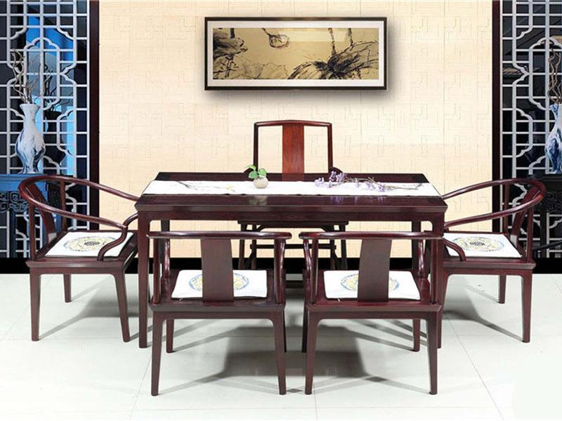 红酸枝茶桌明式简约巴里黄檀红木家具