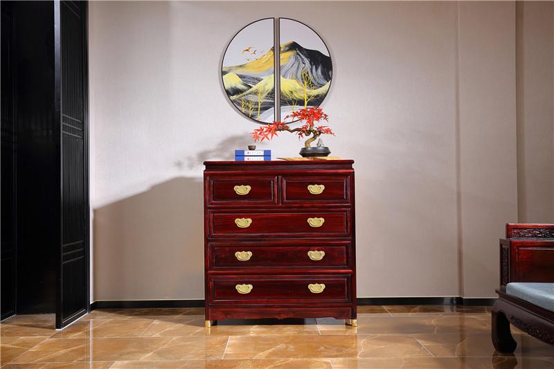 非洲小叶紫檀卧室家具五斗柜