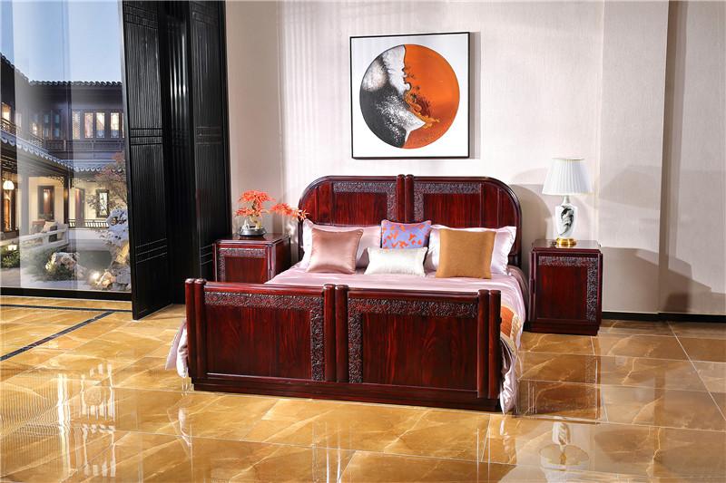 赞比亚血檀卧房大床