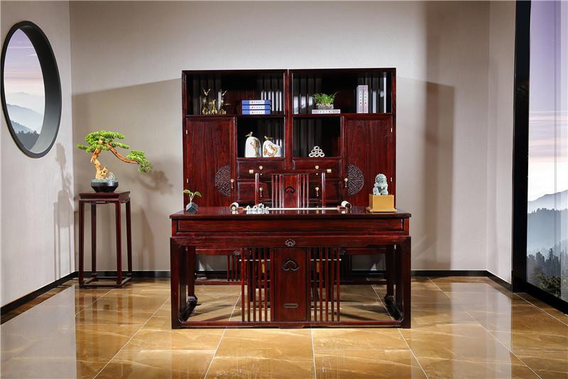 红木办公书桌书柜整套红木办公桌价格及款式