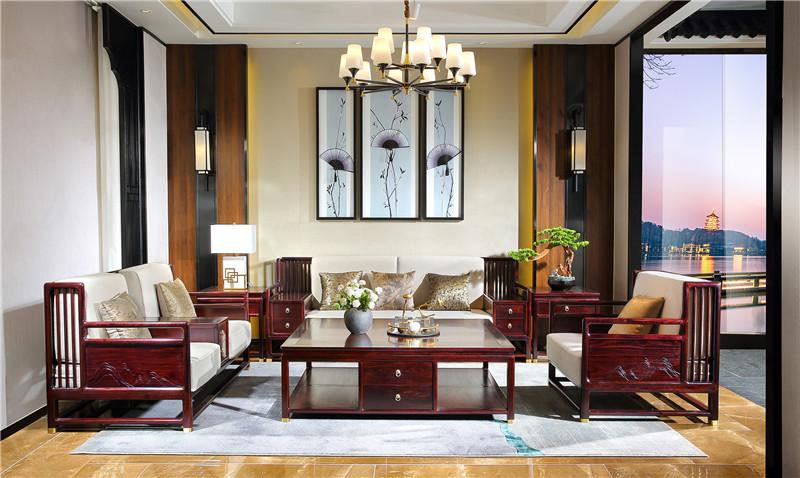 西安血檀沙发图片及价格新中式风格