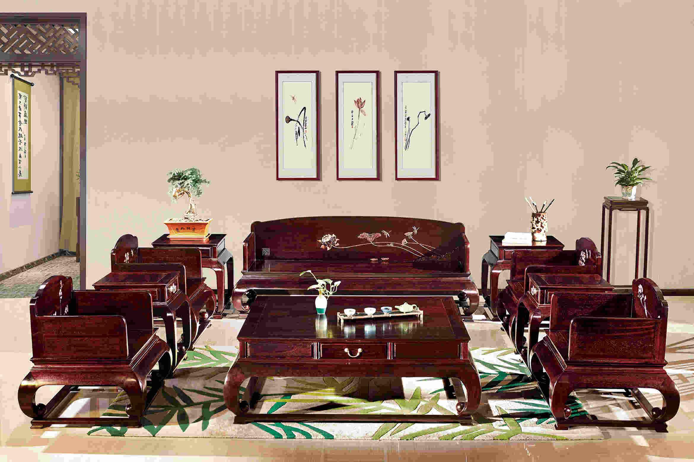 西安红木家具,西安血檀沙发