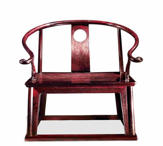 西安红木家具,西安赞比亚紫檀圈椅
