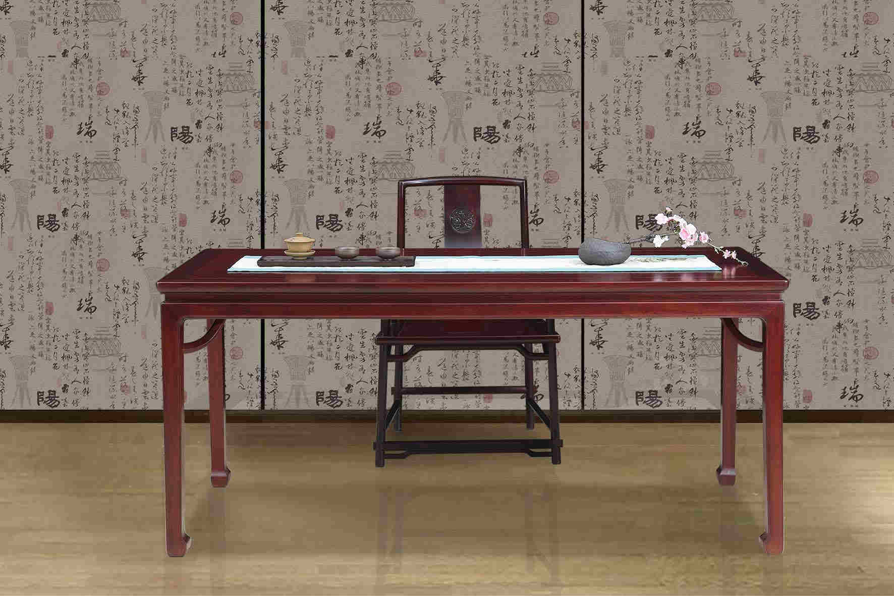 西安红木家具,西安红酸枝茶台