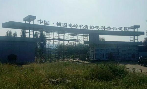 中国城固秦岭名贵菊花科普示范园