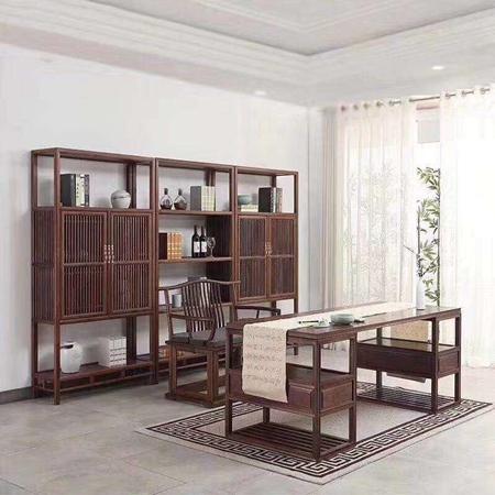 内蒙古老榆木书房家具定制