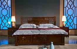 内蒙古老榆木家具-卧室家具