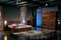 老榆木卧室家具