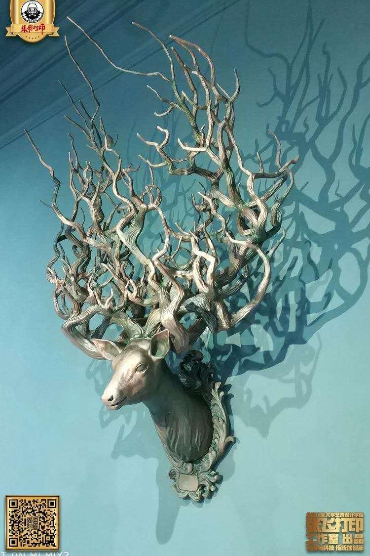 """麋鹿申报2022年北京冬奥会和冬残奥会吉祥物,张飞打印的""""3D打印""""之鹿来助阵啦~"""