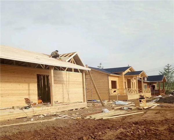 白银肆龙镇防腐木木屋、凉亭工程