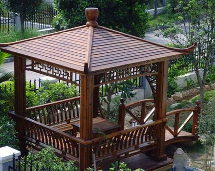 碳化防腐木凉亭