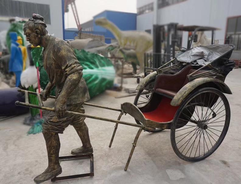 陕西玻璃钢仿铜雕塑