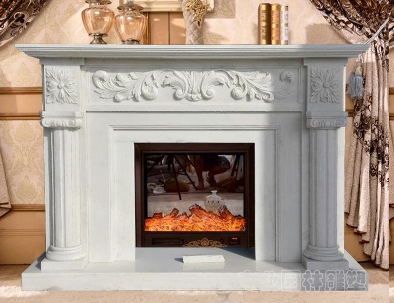 陕西石雕壁炉