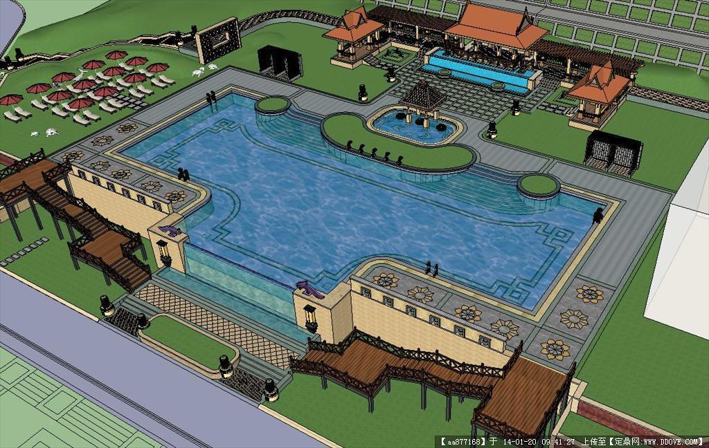 露天游泳池规划设计