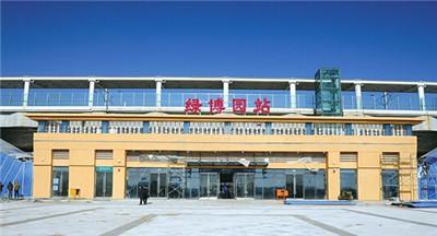 郑州绿博园型材拉弯客户见证