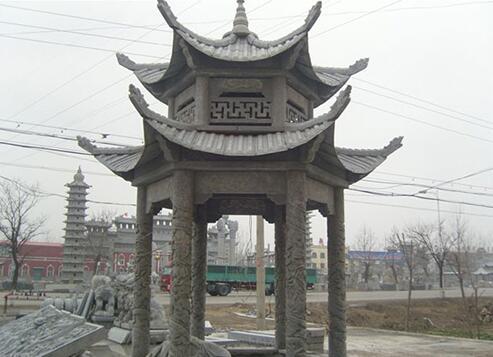 襄阳鑫生辉石材凉亭雕刻厂家展示