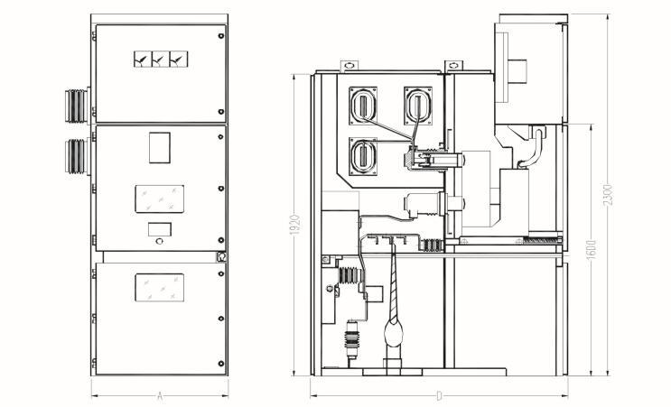 金顿高低压开关柜外形展示图