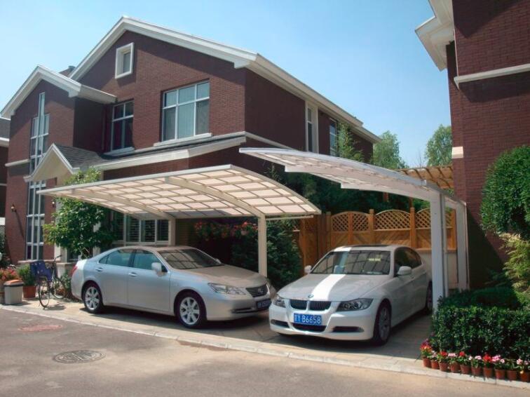 小區家庭車棚遮陽棚效果展示圖