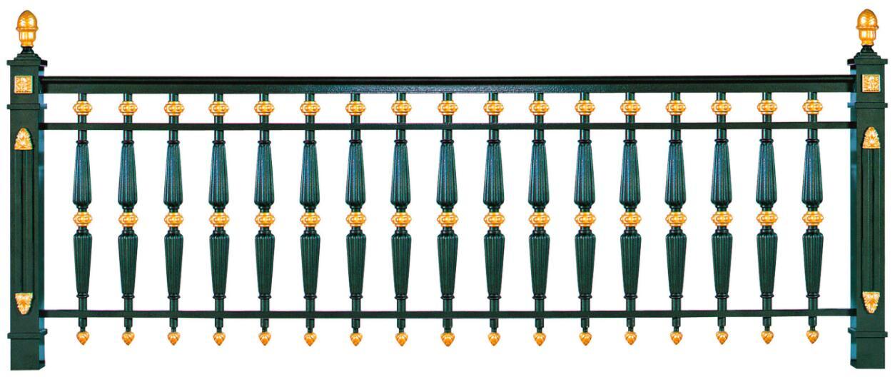 鋁藝實用不規則柱型欄桿