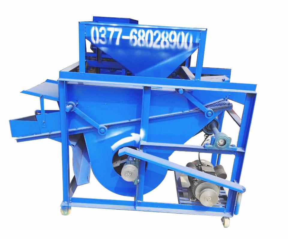 厂家直销新款大产量花生去雜機 四轮带动 去杂干净一次到位