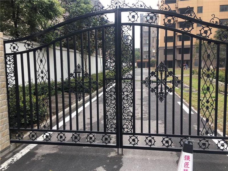 锌钢铁艺庭院门