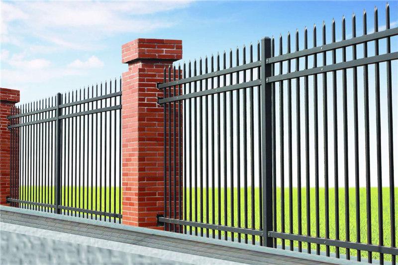 厂家批发锌钢围栏_围墙学校园区隔离围栏