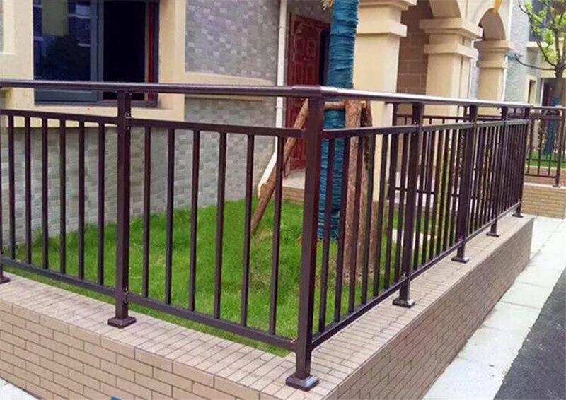定制别墅小区锌钢阳台护栏栏杆_锌钢楼梯扶手生产