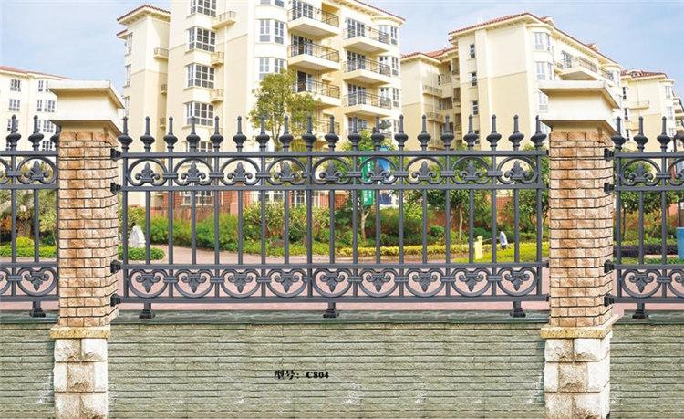 加工定制铝艺围墙护栏_别墅花园庭院围栏