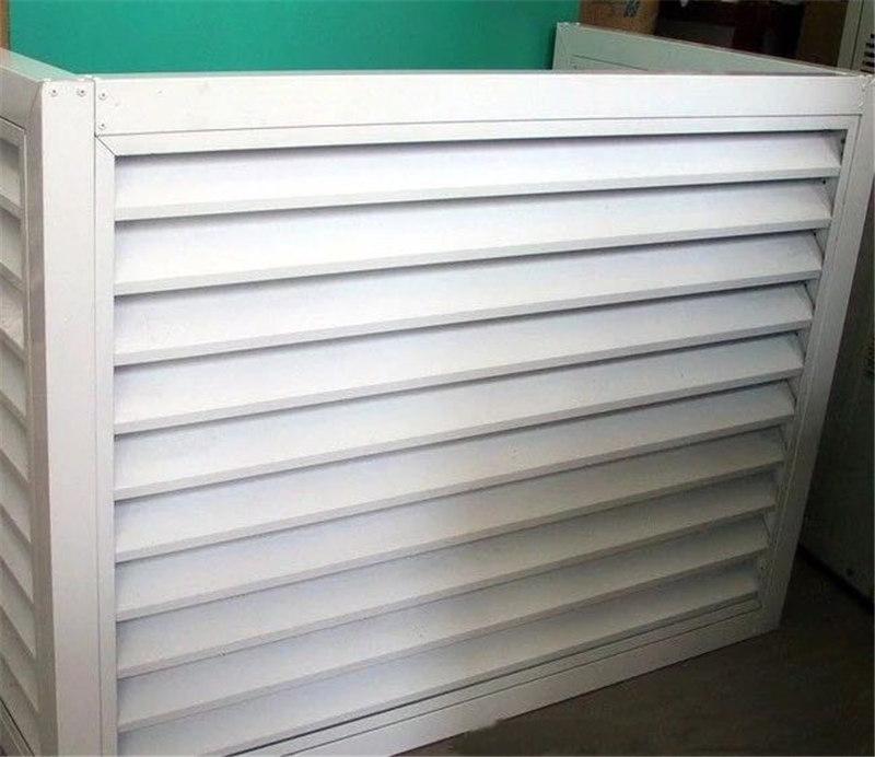 防塵防雨遮陽鋅鋼鋁合金百葉窗