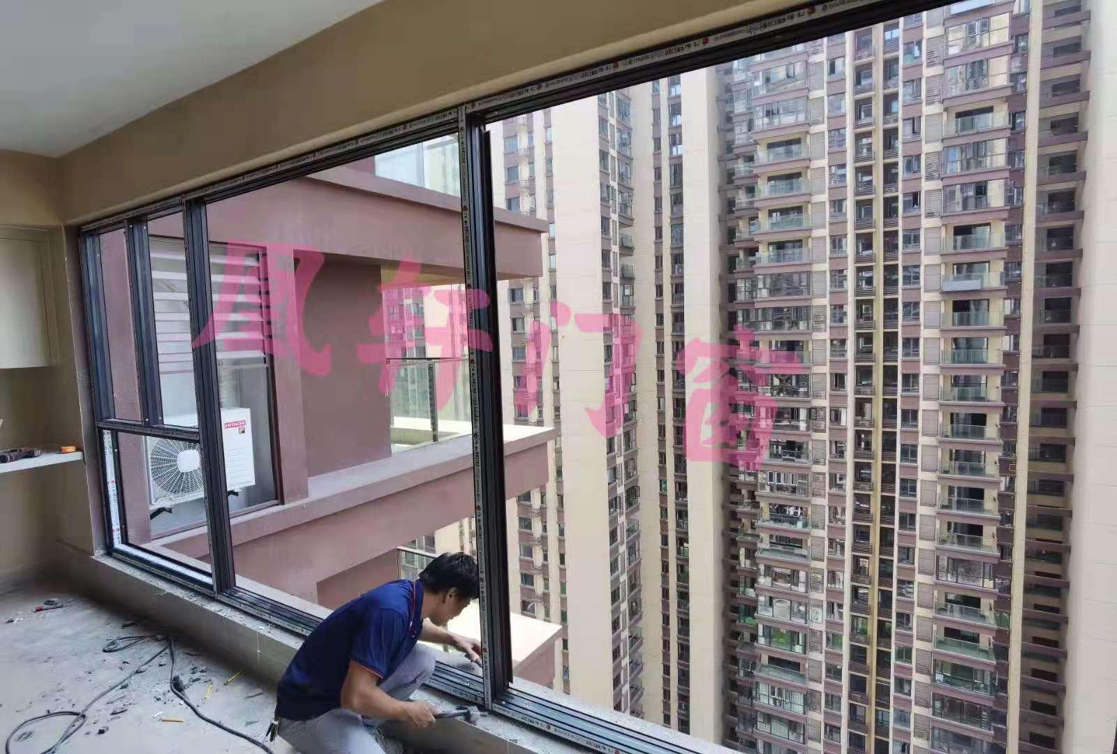 凰轩门窗为人信悦玺某业主安装窗户