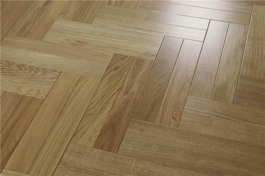 橡木本色实木地热地板