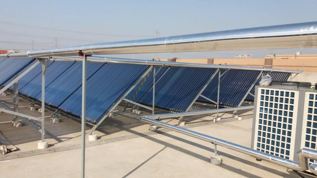华太圣阳太阳能热水工程