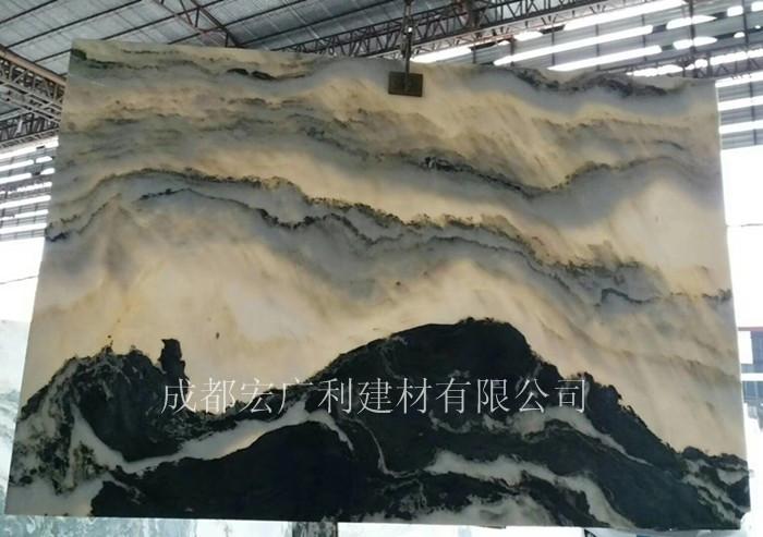 四川山水画大理石
