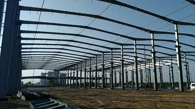 山西大同航空公司钢结构施工