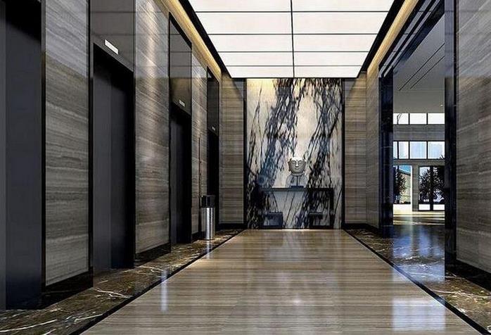 与渭南一小区物业公司合作电梯装潢