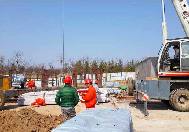 木结构施工现场
