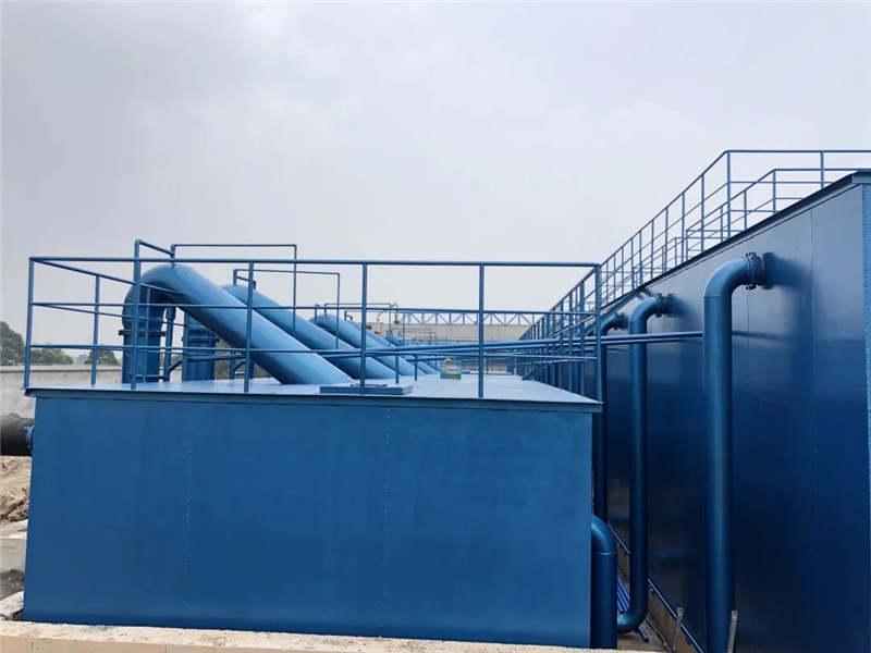 五通桥工业园区每天处理4万吨的全自动净水器