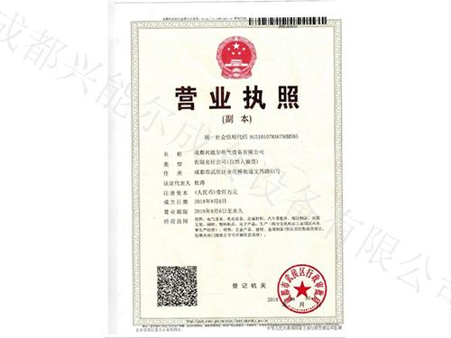 兴能尔电气设备营业执照