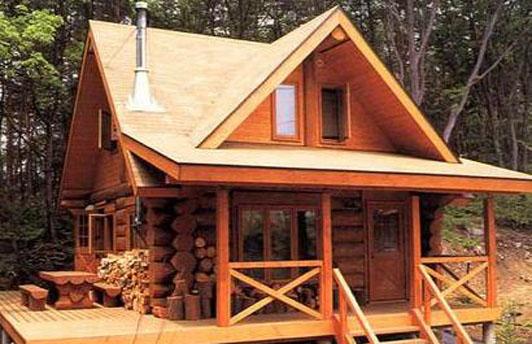 甘肃甘南冶力关南方松木质房屋建造成功