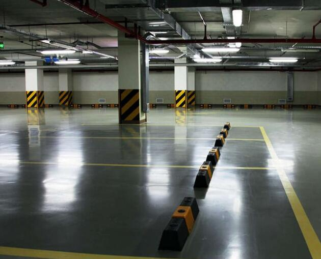 襄阳泛悦室内地下停车位划线展示