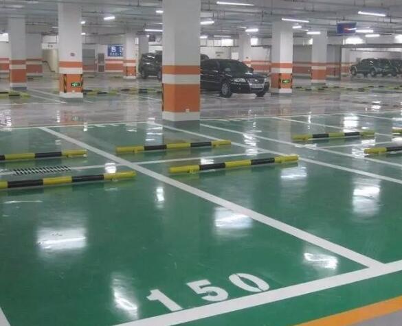 襄阳地下停车场车位划线展示