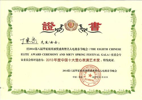 2013年度中国十大爱心表演艺术家