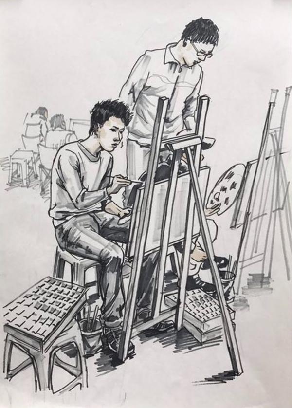 兰州墨峰美术培训学员作品-速写