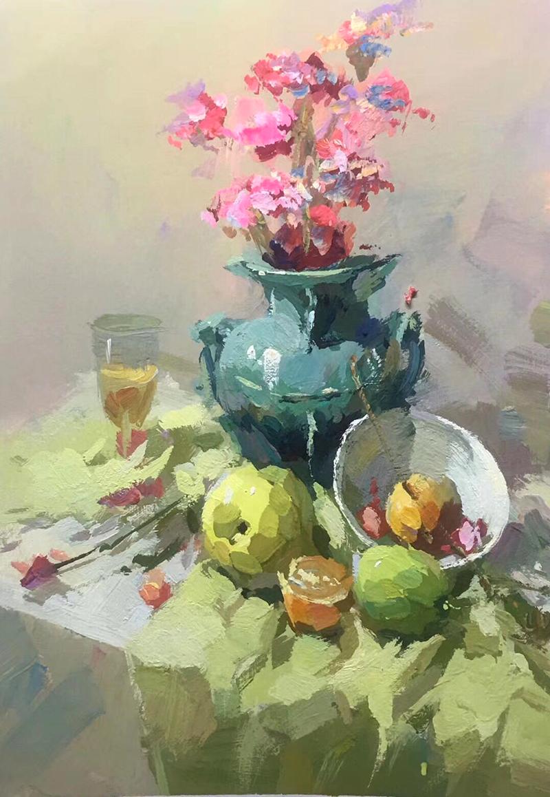 兰州墨峰美术老师色彩作品展示