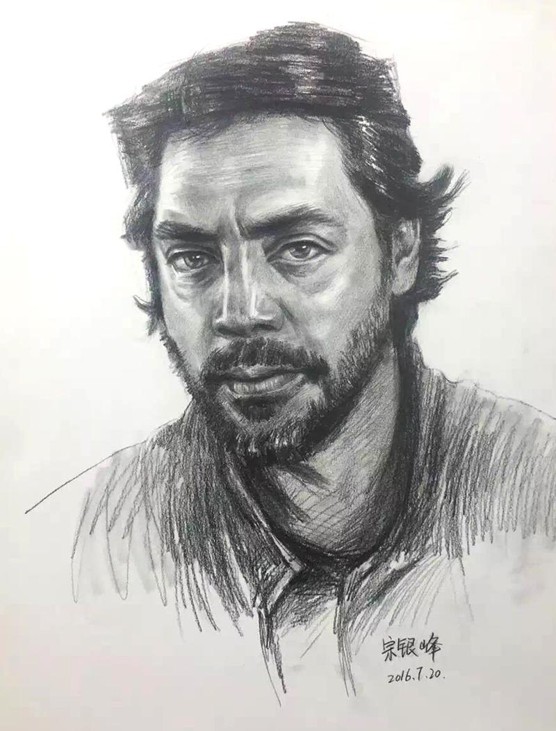 兰州墨峰美术老师素描作品