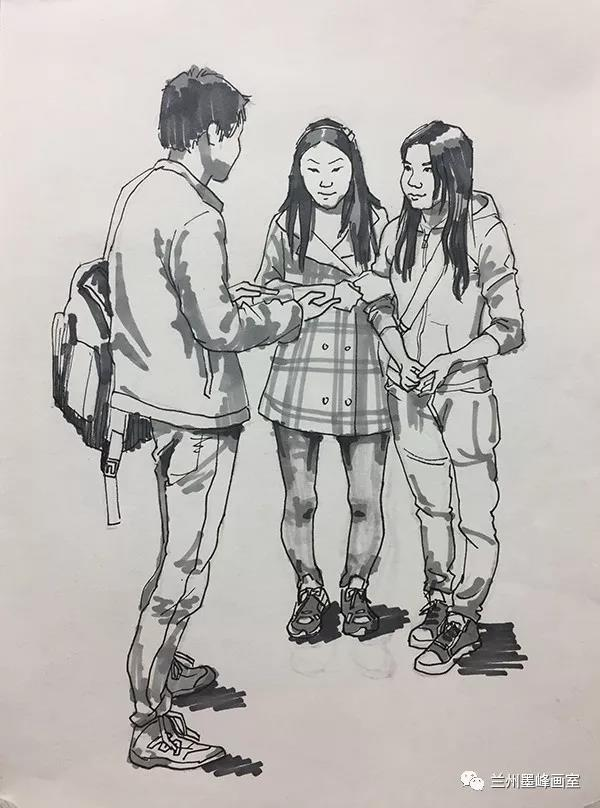 兰州墨峰画室作品