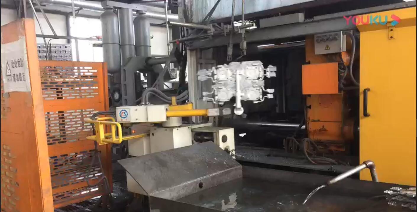 铝合金压铸零件加工视频