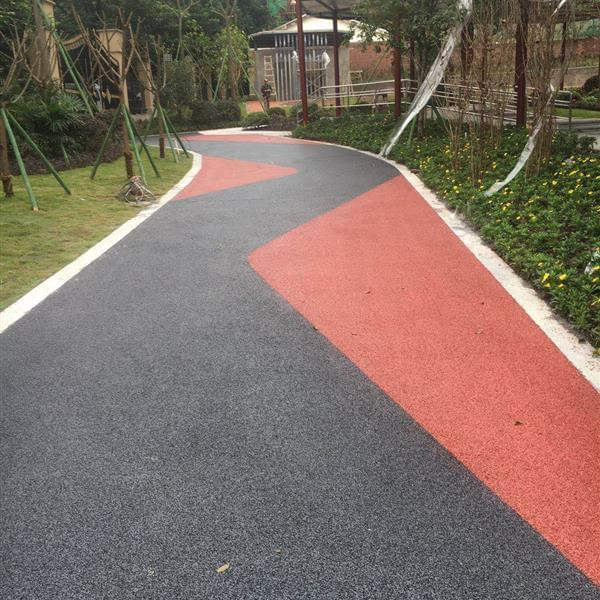 陕西彩色混凝土压膜地坪园路铺路方法