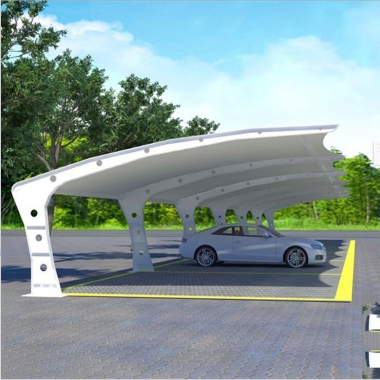 陕西膜结构建筑,膜结构私家车车棚厂商