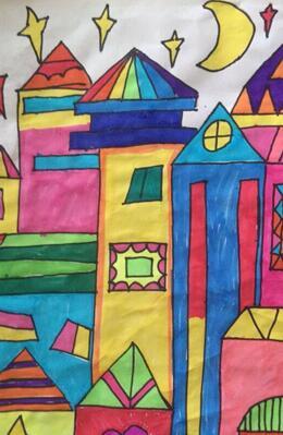 兰州大艺美术画室少儿绘画作品
